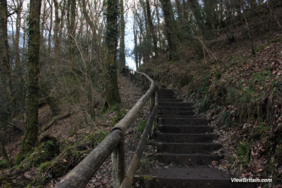 Stairs-on-the-Lydford-Gorge-trail