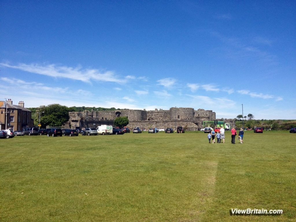 Beaumaris-Castle-view-from-outside-entrance