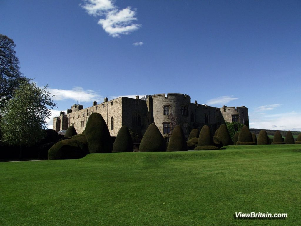 View-of-Chirk-Castle-&-Surrounding-Yew-Trees-Wales