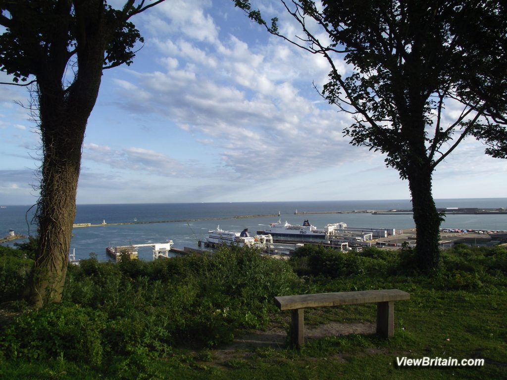 View-of-Dover-Port-from-White-Cliffs-Visitor-Centre