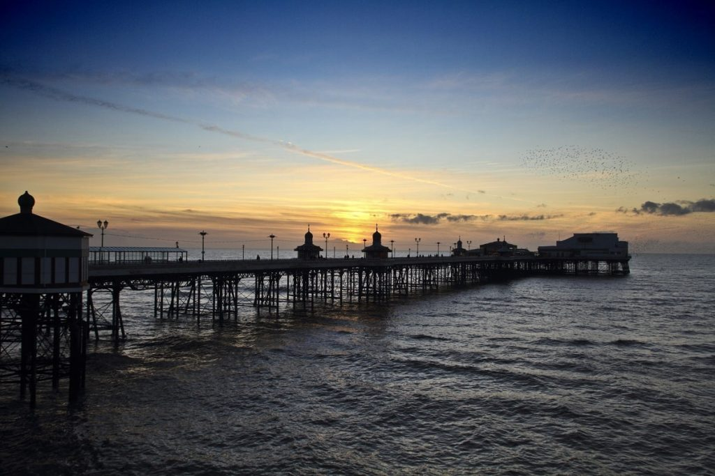 blackpool-north-pier-at-sunset-from-side